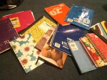 Some of my notebooks